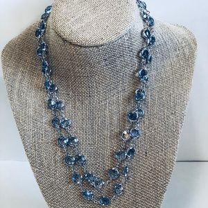 🥳WEEKEND SALE!! Sky Blue Crystal Necklace Set